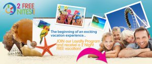 Signup for a 2 Free Night Vacation